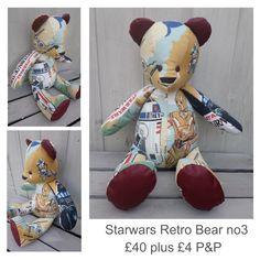 Star Wars Fabric, Vintage Fabrics, Uk Shop, Marketing And Advertising, Bespoke, Upcycle, The Past, Handmade Items, Teddy Bear