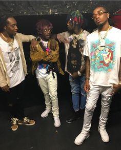 Migos x Lil uzi vert Mode Hip Hop, Hip Hop And R&b, Hip Hop Rap, Lil Uzi Vert Style, Pink Toes, Rap Wallpaper, Young Thug, Mode Style, Fashion Killa