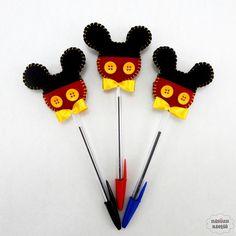 Lápis ou caneta c/ ponteira mickey