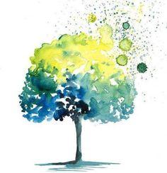 Акварельные деревья | Арт и искусство