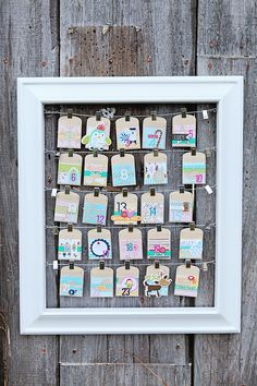 Cute countdown idea - Megan Klauer Design: she shares all 25 days of activities and a closeup of each pocket