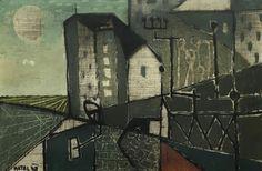 Bohumír Matal – Město (1948)   Sophistica Galerie Cities, Houses, Paintings, Art, Homes, Art Background, Paint, Painting Art, Kunst