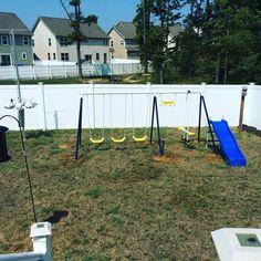 Assembled playground set in #uppermarlboromd #outdoorprojects #handyman #mrhandyman3908