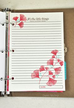 Gratitude Journal Page