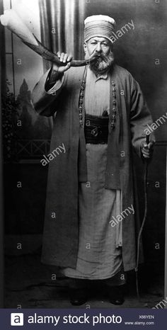 Stock Photo - Dervish with his horn at the Convent, Anatolia, Turkey. Bektashism spread from Anatolia through the Ottomans primarily into the Balkans, where its leaders (known as dedes or Hazrat Imam Hussain, Sufi, Horns, Islam, Turkey, Europe, Stock Photos, History, Fictional Characters