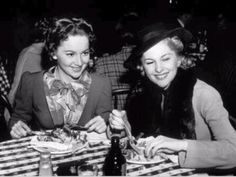 Olivia de Havilland with her equally talented and famous sister Joan Fontaine