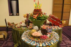 15 años tipico panama! candy bar by: butterfly events eventos tematicos cake by: endulzarte