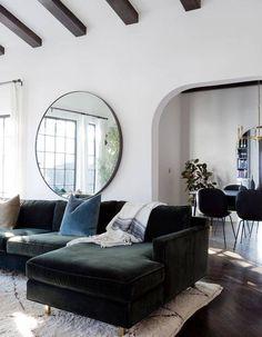Le miroir rond, cet indispensable déco à nos intérieurs - Elle Décoration