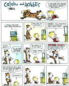 Calvin And Hobbes On Humanity's New God