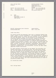 HORT — Bauhaus Dessau corporate design | stationary | Dessauer courier