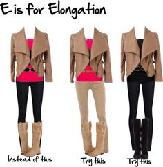 """""""E is for elongation"""" by imogenl ❤ liked on Polyvore"""