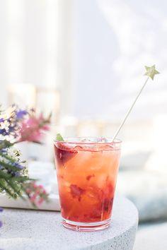 Strawberry Tequila Sodas