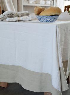 Mantel de lino bicolor - www.entrelinos.com