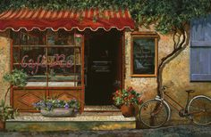 caffe Re Painting  - caffe Re Fine Art Print