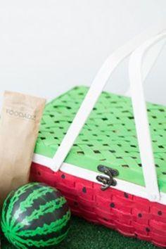 ¡Linda cesta de sandia para picnic! #DIY