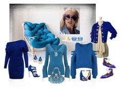 """shades of blue"" by snowmoon ❤ liked on Polyvore featuring Yves Saint Laurent, WearAll, WithChic, Finery London, LeVian, Alexis Bittar, Sam Edelman, Quay, Aquazzura and Michael Kors"