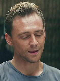 Tom Hiddleston as Conrad... Instant smile. Go ahead try not to smile.