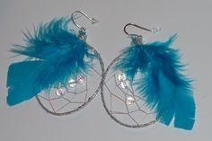Dreamy Dream Catcher Earrings by FabulouslyBooGee on Etsy, $10.00