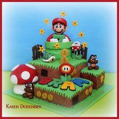 My first Mario cake! - Cake by Karen Dodenbier