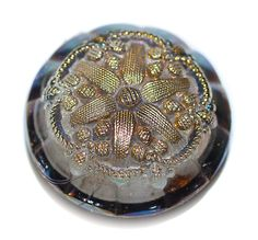 Old Glass Button - Small by KPHoppe on Etsy