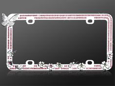 Decorate your car with a cute pink rhinestone Butterfly Car License Plate Frame from CarDecor.com.