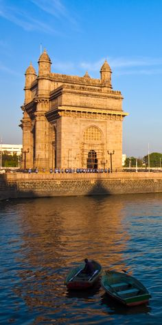 Mumbai, India has a monumental Gateway of India. There is a pilgrimage site Haji Ali Dargah that is a mausoleum with intricate décor and architecture. The Elephant caves are renowned for the sculpted temples within. Tourism India, India Travel, Cool Places To Visit, Places To Travel, Places To Go, Beautiful Castles, Beautiful World, Beautiful Places, Asia City