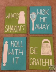 8. #Kitchen Quote #Canvases - 20 Decorations for Your #First Apartment ... → #Lifestyle #Apartment