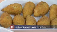 RECEITAS DA RENATTA: COXINHAS DE MANDIOCA COM CARNE SECA