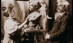 Mark Twain, sitting for his portrait in Theresa Ries' studio, 1897 The Forgotten Women Artists of Vienna 1900 Mark Twain, Art Nouveau, Victorian Life, Artists And Models, Hits Movie, Video On Demand, Love Movie, Famous Artists, My Father