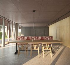 Cucina villa minimale e moderna studio di architettura