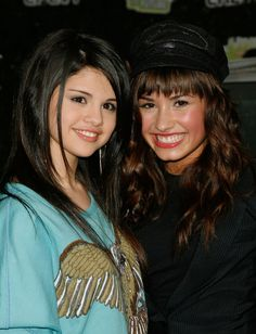 Demi Lovato and Selena Gomez #disneychannel