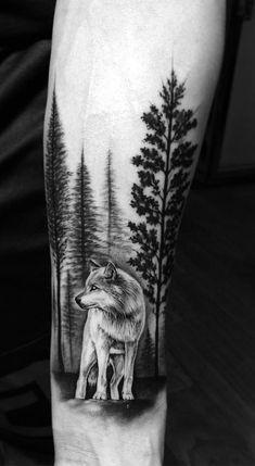 As 60 Melhores Tatuagens De Lobo - Tattoo Wölfe Federn Indianer - Wolf Tattoos Men, Tattoos Arm Mann, Badass Tattoos, Arm Tattoos For Guys, Trendy Tattoos, Body Art Tattoos, Cool Tattoos, Tatoos, Nature Tattoo Sleeve