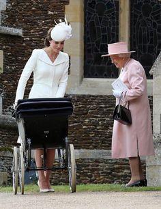 The Royal family at Princess Charlottes Christening on 05.07.2015
