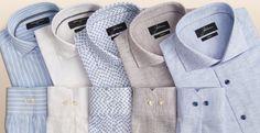 Leinen pur oder im Mix mit Baumwolle: Unsere neuen Businesshemden von JOHANN und MARC O'POLO MR. zeichnen sich durch ihre leichte, griffige Haptik und besonders schöne Melierung und sommerliche Muster aus, die zu Chinos ebenso funktionieren wie zum Anzug.