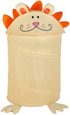 Honey-Can-Do Medium Kid's Pop-Up Hamper - Lion - Best Price
