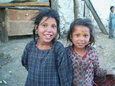 two beautiful rural Nepali young girls