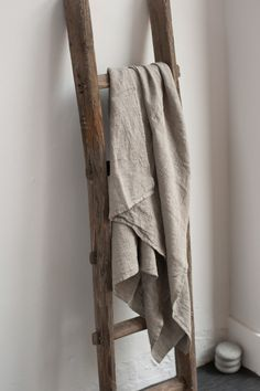 Linen Bath Towels Gray / Taupe