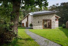 Villa with brick walls