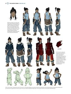 insomniatakesover:  The Legend of Korra Art Book,Pages 10 - 17...