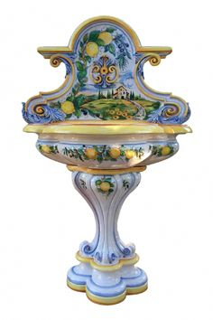 Choose between our unique ceramic pottery! Hand Painted Pottery, Pottery Painting, Hand Painted Ceramics, Ceramic Painting, Ceramic Pottery, Italian Pottery, How To Make Paint, Ceramic Table, Amazing Gardens