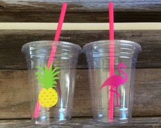 Flamingo Party Cups - Flamingo Bachelorette - Flamingo Birthday Favors - Tropical Party Cups - Lets Flamingle Treat Cups - Luau Summer Party Summer Party Themes, Hawaiian Party Decorations, Birthday Party Themes, Ideas Party, Party Summer, Themed Parties, Summer Food, Summer Ideas, Flamenco Party