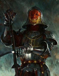 Dark Fantasy Art, Fantasy Artwork, Fantasy Rpg, Medieval Fantasy, Fantasy Warrior, Fantasy Weapons, Fantasy Character Design, Character Design Inspiration, Character Art