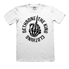DETHRONE THIS! Available in black or white (white is limited edition  available to pre-order now) Shop now at dethronetheking.com FREE SHIPPING  on all UK ... aa7d645e8f5a