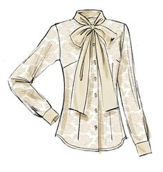 V8772 Fitted blouse has collar, sleeve and hem variations, and narrow hem. #voguepatterns