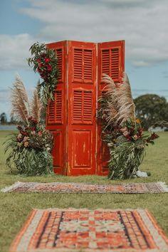 Bohemian Rustic Whangateau Wedding (with a $100 reception venue!) » P A P E R + L A C E