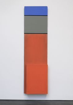 Blinky Palermo Untitled, 1973; primer, oil, fabric, and wood; 98 7/8 x 26 3/8 x 3 5/8 in