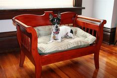 Handmade Custom Wood Dog or Cat Pet Bed Antique by nancykmarie, $179.00