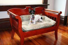 Handmade Custom Wood Dog or Cat Pet Bed