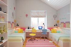 At the beginning of August 2014 design studio Geometrium (Alexei Ivanov and Pavel Gerasimov) took House project in Lipetsk with total area 306 square meters Boy And Girl Shared Bedroom, Girls Bedroom, Bedroom Decor, Girl Rooms, Girl Bedroom Designs, Home Interior Design, Room Inspiration, Safety Scissors, Ikea