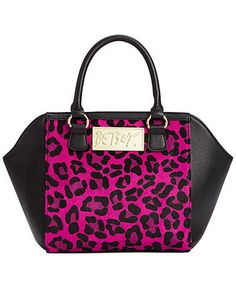 Betsey Johnson Fur Real Satchel - Handbags & Accessories - Macy's